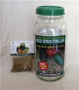 Gallon Seed Sprouting Jar Bean Sprouts Vegetarian