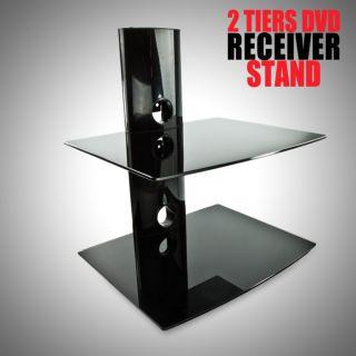 LCD LED Plasma 32 60 Flat TV Wall Mount Tilt 2 Tier DVD Stand