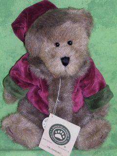 Boyds Plush Mr Baybeary Bear Red Velvet Fur Trim Suit