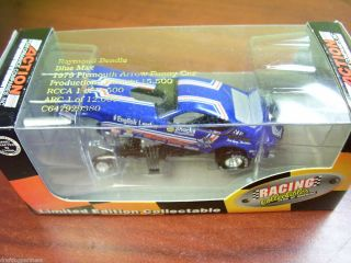 XRARE 1 64 Raymond Beadle BLUE MAX 1997 Plymouth Arrow Funny Car