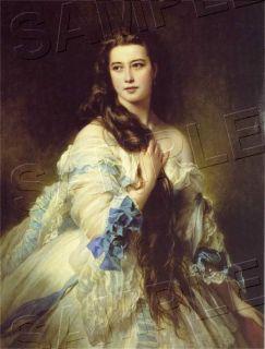Beautiful Victorian Lady Long Hair Canvas Art Large