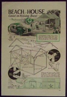plans for a beach house this collapsible 7 x 12 wood framed shelter