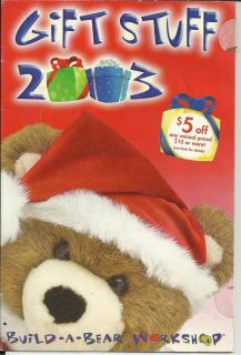 Build A Bear Workshop Catalog for Identification 2003