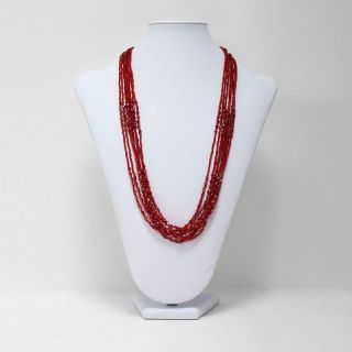 Multi Strand Seed Bead Necklace Siam 01