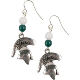 michigan state spartans beaded earrings