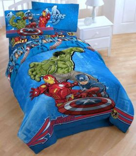 NEW TWIN SIZE   AVENGERS BEDDING SET   Comforter + Sheets Bed in a Bag