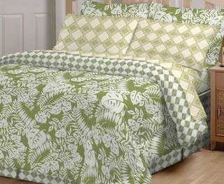 5pcs Waverly Banana Leaf Bed in A Bag Bedding Set Twin