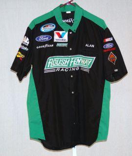 Trevor Bayne Roush Fenway Racing Race Used NASCAR Pit Crew Shirt