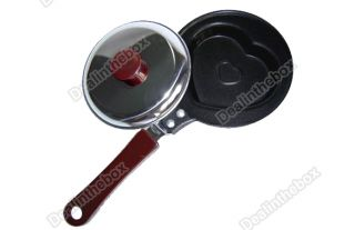 BBQ Outdoor Kitchen Pan Fry Heart Egg Pot Say I Love You Mini Non