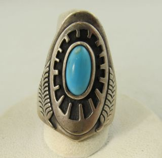 Ben Nighthorse Sterling Silver Turquoise Ring Esate