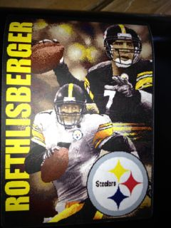 Big Ben Roethlisberger Pittsburgh Steelers Football Tapestry Blanket