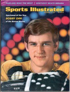 Sports Illustrated December 21 1970 BOBBY ORR Boston Bruins SOY Hockey