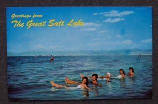 1960s 5 Babes Sunset Beach Great Salt Lake UT Postcard