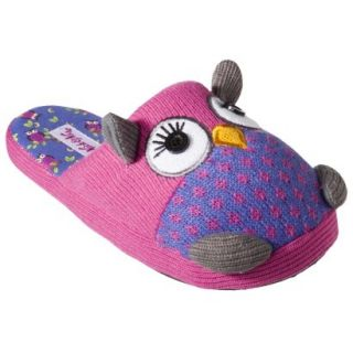 Nick and Nora Cute Purple Pink Slip on Owl Slippers s M or L XL New