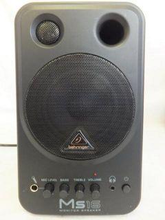 Behringer MS16 Recording Studio Equipment Compact Stereo Speaker
