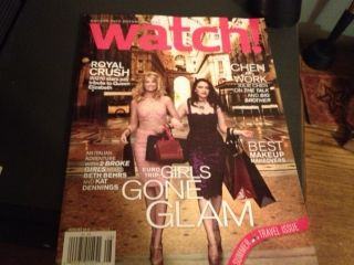 Magazine 2 Broke Girls Kat Dennings Beth Behrs 90210 Julie Chen