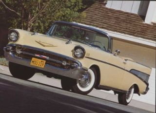 The 1957 Chevrolet Bel Airs V 8 engine could go from 0 60 mph in