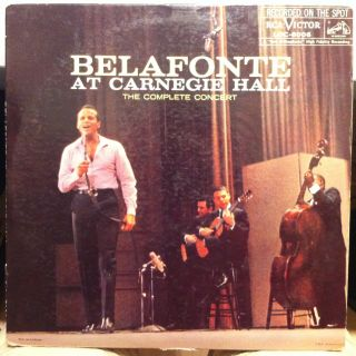 Harry Belafonte at Carnegie Hall 2 LP Loc 6006 VG Vinyl Record 1S 1S