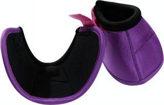 Purple Size Medium Heavy Duty No Turn Horse Bell Boots New Tack