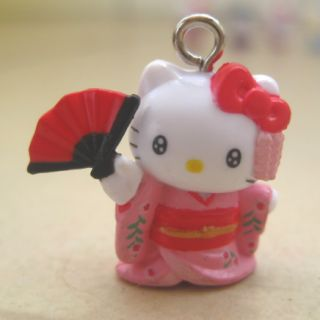 Kitty Pendant Charm with Strap Bell for Mobile Phone JW208 2cm