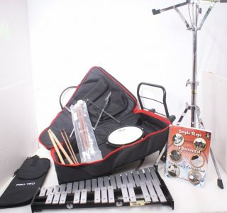 VIC FIRTH PERCUSSION DRUM BELL KIT XYLOPHONE Student w Rolling Bag