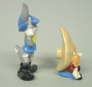 Looney Tunes Salt Pepper Bugs Bunny Yosemite Sam w Box 1993 Warner