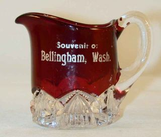 Flash Glass Small Creamer Souvenir of Bellingham Washington