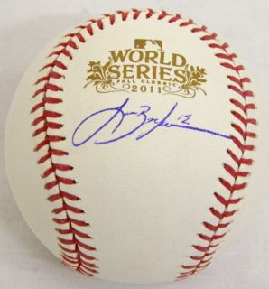 Cardinals Lance Berkman Signed 2011 World Series Baseball Schwartz