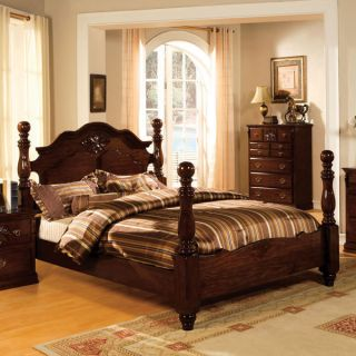 Solid Wood Tuscan II Dark Pine Finish Bed Frame Set