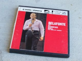 Belafonte at Carnegie Hall The Complete Concert Reel to Reel Tape
