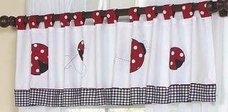 JoJo Red White Ladybug Baby Girl Crib Bedding 9P Set