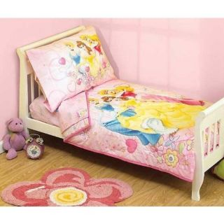 Disney Princess Enchanted Tales 4 Piece Toddler Bedding Set