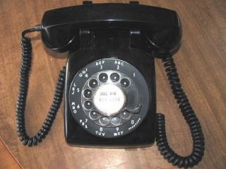 Black Western Electric Bell Telephone Rotary Dial C D 500 Desk Phone
