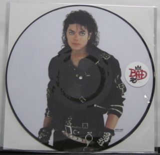 Michael Jackson Bad 25th Anniversary New LP 12 Vinyl Picture Disc