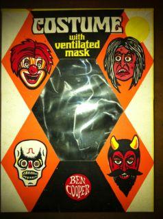 Vintage Ben Cooper Skeleton Halloween Costume Child Size Medium NO