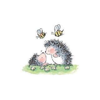 Penny Black Rubber Stamp Good News Hedgehogs Talk Bee