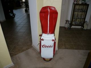 up for auction is a belding sports coors golf bag all snaps and