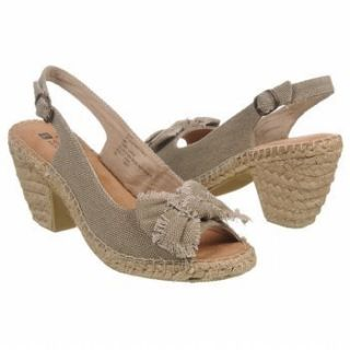 White Mountain BEECHNUT Taupe Canvas Sandals Shoes Heels Womens size 7