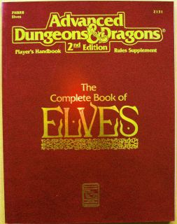 AD&D/ADVANCED DUNGEONS & DRAGONS COMPLETE BOOK OF ELVES/TSR 1992