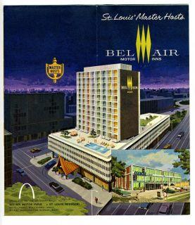 Bel Air Motor Inn Brochuretrader VICS Tiki Henricis St Louis Missouri
