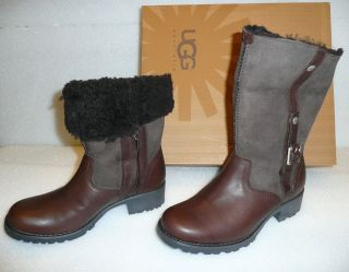 UGG Bellvue II Espresso Brown Leather Suede Boots