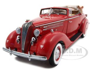 1936 Hudson 8 Eight Convertible Red 1 24 Franklin Mint