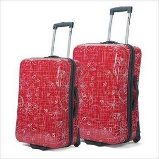 Benzi Hardsided Patterned 2 Piece Luggage Set Color Red