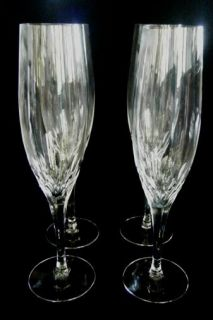 ORREFORS PRELUDE CHAMPAGNE FLUTE GLASSES SET OF 4