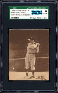1934 36 Batter Up 149 Moe Berg SGC Moe Berg Collection