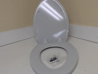Bemis 1500EC062 Molded Wood Elongated Toilet Seat Ice Grey