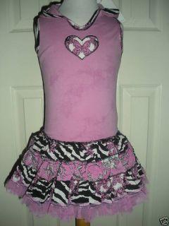 NW Ooh La La Couture Hoodie Zebra Print Twirl Dress 2