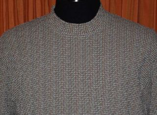 Jhane Barnes Green Purple Orange Pullover Crew Knit Sweater Mens Large