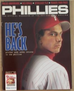 2000 phillies magazine issue 3 andy ashby