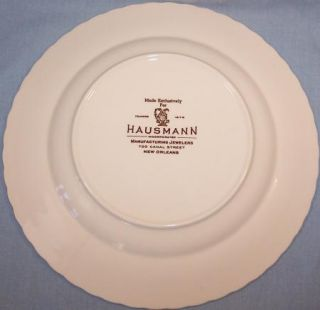 Vernon Kilns Collectr Plate City of New Orleans Designed for Hausmann